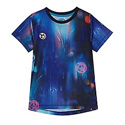 bluezoo - Boys' blue football print t-shirt