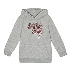bluezoo - Boys' grey 'Game Over' print hoodie