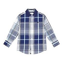J by Jasper Conran - Boys' navy checked shirt