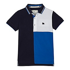 J by Jasper Conran - Boys' navy colour block polo shirt