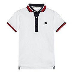 J by Jasper Conran - Boys' white tipped polo shirt