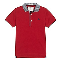 J by Jasper Conran - 'Boys' red gingham collar polo shirt