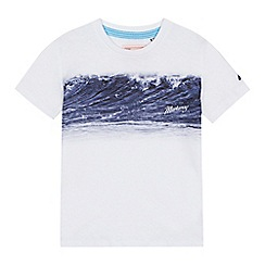 Mantaray - 'Boys' white wave print t-shirt