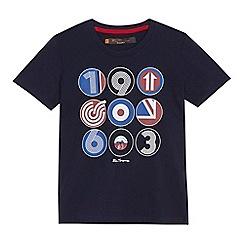 Ben Sherman - 'Boys' navy symbol logo print t-shirt