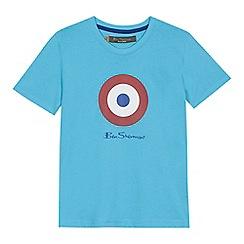 Ben Sherman - 'Boys' blue target logo print t-shirt