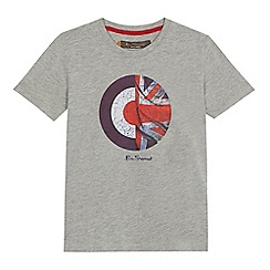 Ben Sherman - 'Boys' grey target logo print t-shirt