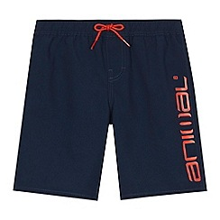 Animal - Boys' navy 'Tanner' swim shorts