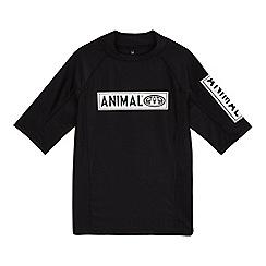 Animal - 'Boys' black logo print rash top