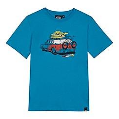 Animal - Boys' blue car print t-shirt