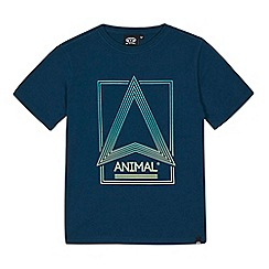 Animal - Boys' turquoise logo print t-shirt