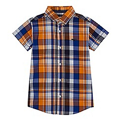 bluezoo - Boys' orange checked shirt