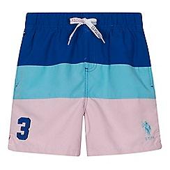U.S. Polo Assn. - 'Boys' multi-coloured striped swim shorts