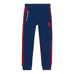 U.S. Polo Assn. - 'Boys' navy striped side jogging bottoms