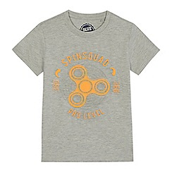 bluezoo - Boys' grey embossed 'Spin Squad' t-shirt