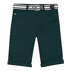 J by Jasper Conran - Boys' green belted chino shorts