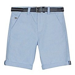 J by Jasper Conran - Boys' light blue Oxford shorts