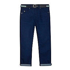 J by Jasper Conran - Boys' blue slim fit belted jeans