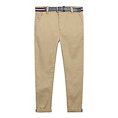 J by Jasper Conran - Boys' tan belted slim fit chinos