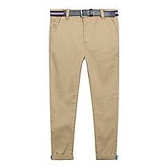 J by Jasper Conran - Boys' tan belted slim fit chinos