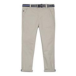 J by Jasper Conran - Boys' grey belted slim fit chinos