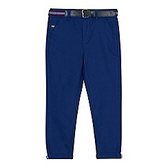 J by Jasper Conran - Boys' bright blue slim fit Oxford trousers