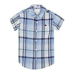 J by Jasper Conran - Boys' blue checked shirt