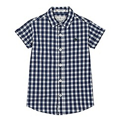 J by Jasper Conran - Boys' blue gingham print shirt