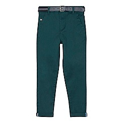 J by Jasper Conran - Boys' green belted slim fit chinos