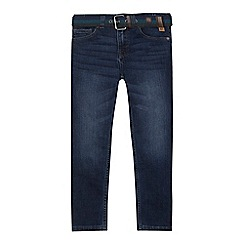 Mantaray - Boys' blue belted skinny jeans