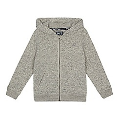 Mantaray - Boys' grey knitted zip through hoodie