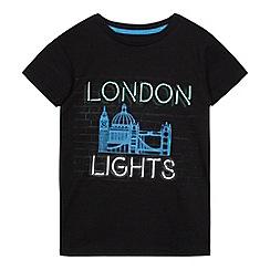 bluezoo - Boys' black 'London Lights' print t-shirt