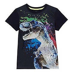 bluezoo - 'Boys' black dinosaur print t-shirt