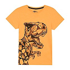 bluezoo - Boys' orange geometric dinosaur print t-shirt