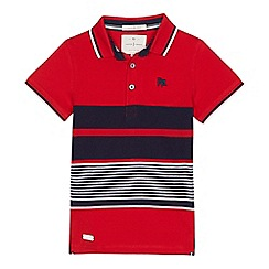 J by Jasper Conran - Boys' red striped polo shirt