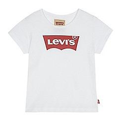 Levi's - 'Girls' white logo print t-shirt