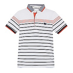 J by Jasper Conran - Boys' white striped polo shirt