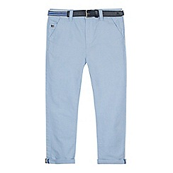 J by Jasper Conran - Boys' light blue slim fit Oxford trousers