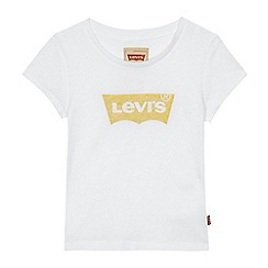 Levi's - Girls' white logo print t-shirt