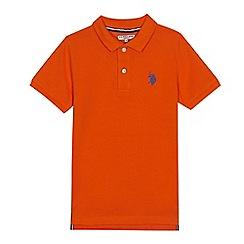 U.S. Polo Assn. - Boys' orange polo shirt