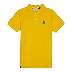 U.S. Polo Assn. - Boys' yellow polo shirt