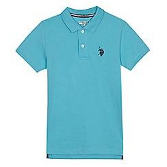 U.S. Polo Assn. - Boys' light blue polo shirt