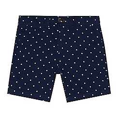 Ben Sherman - Boys' navy polka dot print shorts