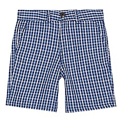 Ben Sherman - 'Boys' navy checked shorts