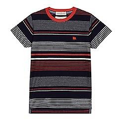 J by Jasper Conran - Boys' navy striped t-shirt