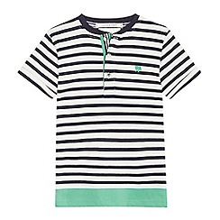 J by Jasper Conran - Boys' white striped sort sleeve Henley top