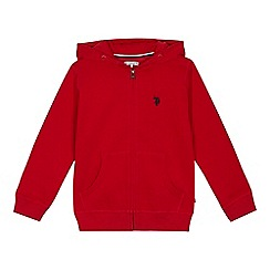 U.S. Polo Assn. - 'Boys' red zip through hoodie