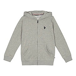 U.S. Polo Assn. - 'Boys' grey zip through hoodie