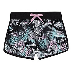 Animal - Girls' black palm print shorts