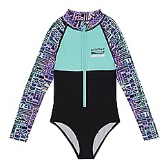 Animal - Girls' multi-coloured rash vest suit