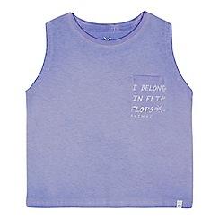Animal - Girls' purple palm tree logo print vest top